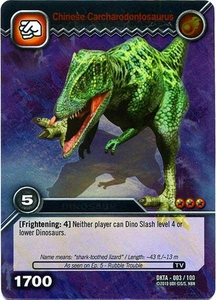 Dinosaur King Time Warp Adventures Single Card Silver Foil DKTA-003 Chinese Carcharodontosaurus