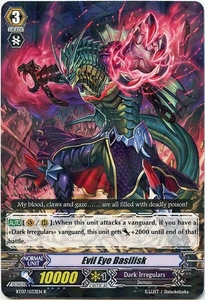 Cardfight Vanguard ENGLISH Rampage of the Beast King Single Card Rare BT07-033EN Evil Eye Basilisk