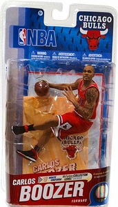 McFarlane Toys NBA Sports Picks Series 19 Action Figure Carlos Boozer (Chicago Bulls) Red Uniform