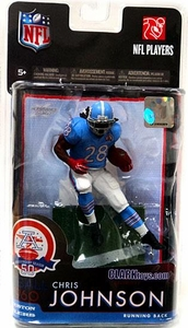 McFarlane Toys NFL Sports Picks Exclusive Action Figure Chris Johnson (Tennessee Titans) Houston Oilers AFL Jersey