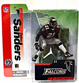 McFarlane Toys NFL Sports Picks Collectors Club Exclusive Action Figure Deion Sanders (Atlanta Falcons) Black Jersey