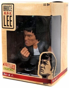 Round 5 Bruce Lee 5 Inch Titan Series 2 Figure Bruce Lee [Gray Outfit with White T-Shirt]