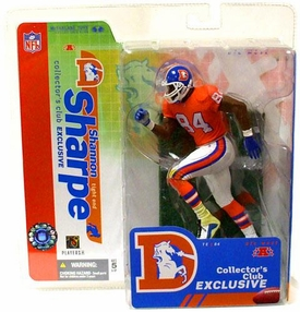 McFarlane Toys NFL Sports Picks Collectors Club Exclusive Action Figure Shannon Sharpe (Denver Broncos) Orange Retro Jersey