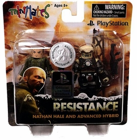 Sony Minimates Exclusive Mini Figure 2-Pack Nathan Hale & Advanced Hybrid [Resistance]