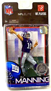 McFarlane Toys NFL Sports Picks Exclusive NFL Elite Series 1 Action Figure Eli Manning (New York Giants) Blue Jersey