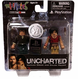 Sony Minimates Exclusive Mini Figure 2-Pack Nathan Drake & Chloe Frazer [Uncharted]