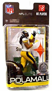 McFarlane Toys NFL Sports Picks Exclusive NFL Elite Series 1 Action Figure Troy Polamalu (Pittsburgh Steelers)
