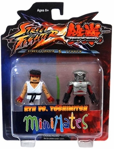 Street Fighter X Tekken Minimates Series 2 Mini Figure 2-Pack Ryu vs Yoshimitsu