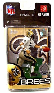 McFarlane Toys NFL Sports Picks Exclusive NFL Elite Series 1 Action Figure Drew Brees (New Orleans Saints) White Jersey