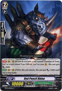 Cardfight Vanguard ENGLISH Rampage of the Beast King Single Card Common BT07-045EN Red Pencil Rhino
