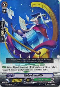 Cardfight Vanguard ENGLISH Rampage of the Beast King Single Card Common BT07-047EN Globe Armadillo