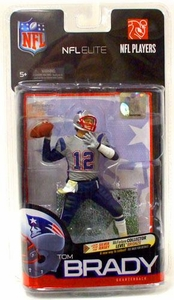 McFarlane Toys NFL Sports Picks Exclusive NFL Elite Series 1 Action Figure Tom Brady (New England Patriots) Silver Jersey Variant Only 2,750 Made!