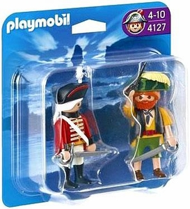 Playmobil Pirates Set #4127 Pirate and Redcoat Soldier