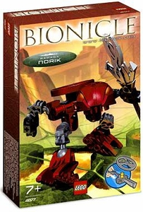 LEGO Bionicle RAHAGA Set #4877 Norik [Red]