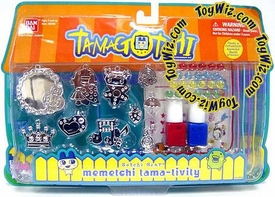 Tamagotchi Activity Set Gotchi Gear Charm Bracelet Memetchi Tama-Tivity [Red & Blue Paint] BLOWOUT SALE!