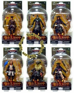 Pirates of the Caribbean Dead Man's Chest Set of 6 Exclusive Action Figures