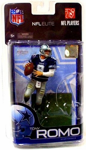 McFarlane Toys NFL Sports Picks Exclusive NFL Elite Series 1 Action Figure Tony Romo (Dallas Cowboys) Blue Jersey
