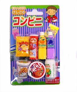 Iwako Japanese Food Eraser Set Snacks & Drinks [Colors May Vary]