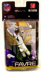 McFarlane Toys NFL Sports Picks Exclusive NFL Elite Series 1 Action Figure Brett Favre (Minnesota Vikings)