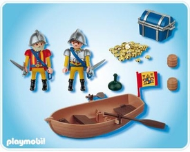 Playmobil Pirates Set #4295 Treasure Transporter with Row Boat