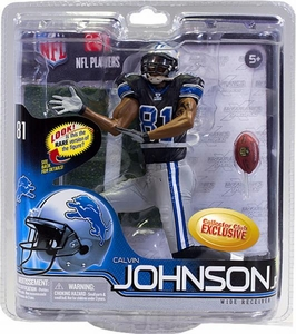 McFarlane Toys NFL Sports Picks Series 30 Collectors Club Exclusive Action Figure Calvin Johnson (Detroit Lions) Black Jersey