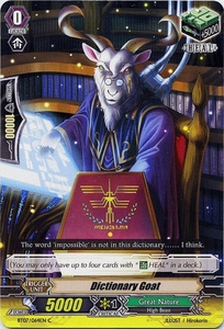 Cardfight Vanguard ENGLISH Rampage of the Beast King Single Card Common BT07-064EN Dictionary Goat