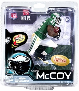 McFarlane Toys NFL Sports Picks Collectors Club Exclusive Action Figure Lesean McCoy (Philadelphia Eagles) 1960's Retro Uniform