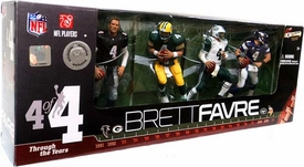 McFarlane Toys NFL 2010 Exclusive Action Figure 4-Pack Brett Favre [Black Falcons Jersey] Damaged Package Mint Contents!
