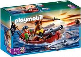 Playmobil Pirates Set #5137 Pirates Rowboat with Shark