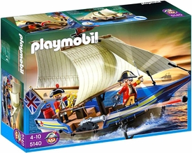 Playmobil Pirates Set #5140 Redcoat Battle Ship