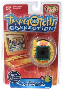 Tamagotchi Connection 'V3' Version 3 Virtual Pet Toy Yellow with Pink Dots