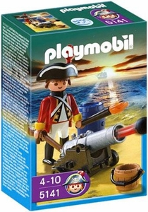 Playmobil Pirates Set #5141 Redcoat Guard with Cannon