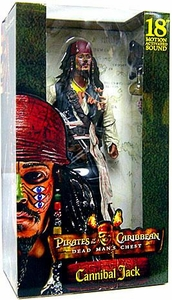 NECA Pirates of the Caribbean Dead Man's Chest 18 Inch Deluxe Talking Figure Cannibal Jack
