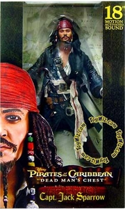 NECA Pirates of the Caribbean Dead Man's Chest 18 Inch Deluxe Talking Figure Capt. Jack Sparrow