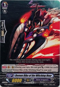Cardfight Vanguard ENGLISH Rampage of the Beast King Single Card Common BT07-083EN  Demon Bike of the Witching Hour