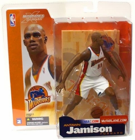 McFarlane Toys NBA Sports Picks Series 2 Action Figure Antawn Jamison (Golden State Warriors) White Jersey