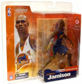 McFarlane Toys NBA Sports Picks Series 2 Action Figure Antawn Jamison (Golden State Warriors) Dark Blue Jersey Action Figure