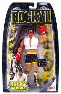 Jakks Pacific Rocky II (Series 2) Action Figure Rocky 2nd Fight Bloody Face & White Towel [Battle Damaged]