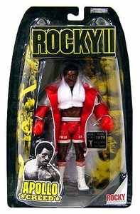 Jakks Pacific Rocky II (Series 2) Action Figure Apollo Creed in White Robe [2nd Fight]