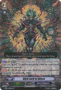 Cardfight Vanguard ENGLISH Rampage of the Beast King Single Card SP Rare BT07-S05EN Dark Lord of Abyss
