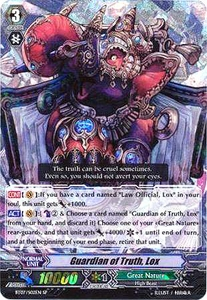 Cardfight Vanguard ENGLISH Rampage of the Beast King Single Card SP Rare BT07-002EN Guardian of Truth, Lox