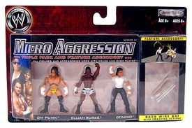 WWE Wrestling Micro Aggression Series 10 Figure 3-Pack CM Punk, Elijah Burke & Domino