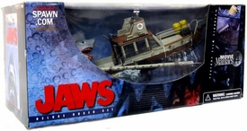 McFarlane Toys Movie Maniacs Series 4 Action Figure Deluxe Boxed Set Jaws [Includes Orca Boat] Damaged Box, Mint Contents!