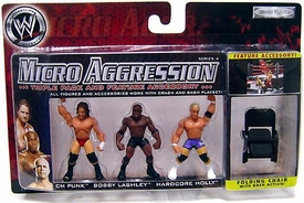 WWE Wrestling Micro Aggression Series 4 Figure 3-Pack CM Punk, Bobbly Lashley & Hardcore Holly