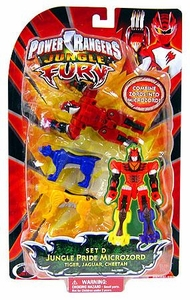 Power Rangers Jungle Fury Micro Animal Zord Set D {Jungle Pride Microzord} [Tiger, Jaguar, Cheetah]