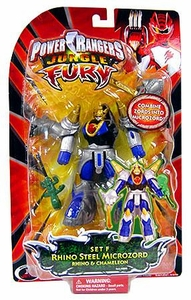 Power Rangers Jungle Fury Micro Animal Set F Rhino Steel Microzord [Rhino & Chameleon]