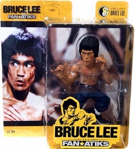 Round 5 Bruce Lee 6 Inch FanAtiks Series 2 Action Figure Enter the Dragon Bruce Lee [Blue Pants, Scratches On Face & Chest]
