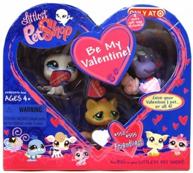 Littlest Pet Shop Figures Exclusive Valentine's Day 4-Pack [Seal, Bird, Cat & Hermit Crab]