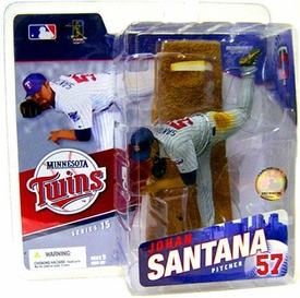 McFarlane Toys MLB Sports Picks Series 15 Action Figure Johan Santana (Minnesota Twins) Gray Jersey Variant