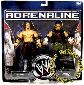 WWE Jakks Pacific Wrestling Adrenaline Series 17 Action Figure 2-Pack Edge Vs. Matt Hardy